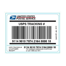 USPS Tracking Barcode Label 400