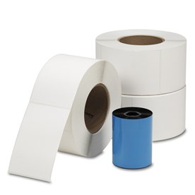Thermal Transfer Labels 4 in. x 6 in. (3 rolls with 1 Transfer Ribbon)