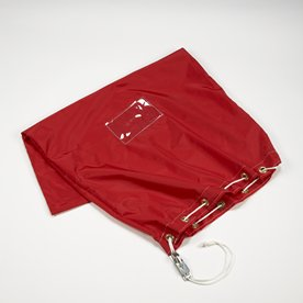 Red Mail Bag, 38 in. H x 25 in. W