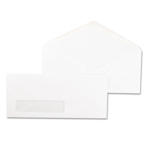 #10, Window, Gummed, White Business Envelopes