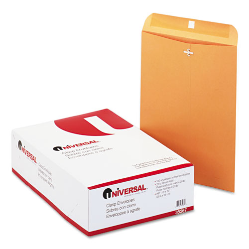 10 x 13, Gummed, Light Brown, Clasp Envelopes